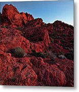 Last Light In Valley Of Fire Metal Print