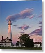 Last Light Of Day At Wind Point Lighthouse - D001125 Metal Print