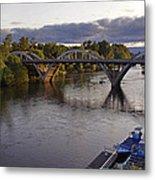 Last Light On Caveman Bridge Metal Print