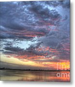 Last Light Over The Lake Metal Print