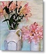 Last Of My Lilies Metal Print by Marsha Heiken