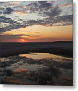 Last Sunset Of The Year Metal Print
