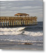 Late Afternoon At The Pier Metal Print