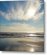Late Afternoon On An Oregon Beach Metal Print