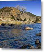 Late Autumn At The Arkansas Metal Print by Ellen Heaverlo