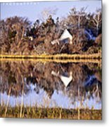 Late Fall Reflection Metal Print by Vicki Jauron