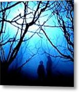 Late Full Moon Walk In The Wild Forest Metal Print