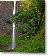 Latourell Falls Oregon - Posterized Metal Print