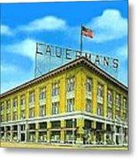 Lauerman's Department Store In Marinette Wi In 1910 Metal Print
