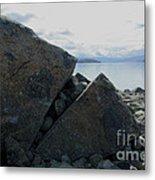 Laughing Rock On Lake Tekapo Foreshore.o Metal Print