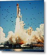 Launch Of Space Shuttle Challenger 51-l Metal Print