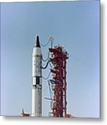 Launch View Of The Gemini-titan 3 Metal Print