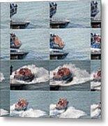 Launching The Lifeboat Metal Print