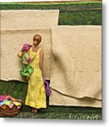 Laundry - Crop Of Original - To See Complete Artwork Click View All Metal Print by Anne Klar