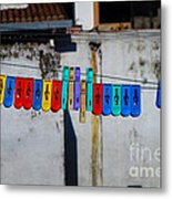 Laundry Clips Metal Print