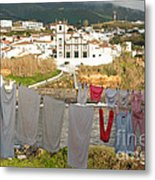 Laundry Day In Azores Metal Print