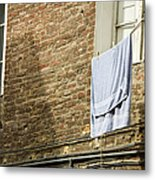 Laundry Hanging From Line, Tuscany, Italy Metal Print by Paul Edmondson