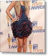 Lauren Conrad Wearing A Moschino Dress Metal Print