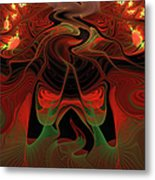 Red Hot Lava Metal Print