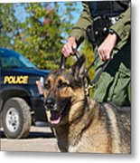 Law Enforcement. Metal Print