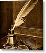 Lawyer - The Brief Starts Here - Black And White Metal Print