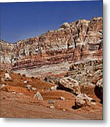 Layered Cliffs Metal Print