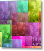 Layered Tiles Abstract Metal Print
