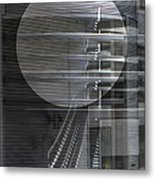 Layers Of Gray Metal Geometric Architecture Metal Print