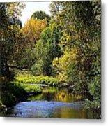 Lazy Autumn River Metal Print