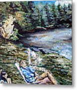 Lazy Day On The Mill Pond Metal Print