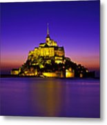 Le Mont Saint-michel, Normandy, France Metal Print
