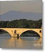 Le Pont Benezet.avignon. Provence. Metal Print by Bernard Jaubert
