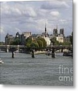 Le Pont Des Arts. Paris. France Metal Print