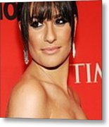 Lea Michele At Arrivals For Time 100 Metal Print