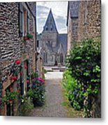 Leading To The Church Provence France Metal Print