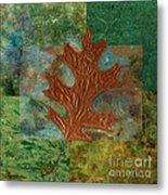 Leaf Life 01 - Green 01b2 Metal Print