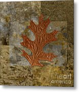 Leaf Life 01 -brown 01b2 Metal Print by Variance Collections