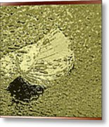 Leaf Mytallique Metal Print