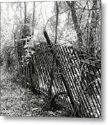 Leaning Fence Metal Print