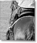 Leather Chaps Metal Print