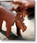 Leather Elk  Metal Print