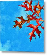 Leaves Against The Sky Metal Print