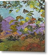 Leaves At Play Metal Print