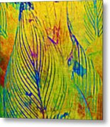 Leaves In The Jungle Metal Print by Judi Bagwell