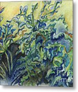 Leaves In The Wind Metal Print