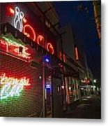 Lebowski Bar At Night Metal Print by Sven Brogren