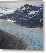 Leconte Glacial Flow Metal Print by Mike Reid