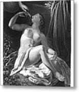 Leda And The Swan Metal Print