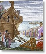 Legend Of Archimedes And The Lever Metal Print