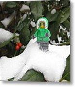 Lego Mini Eskimo In Holly  Metal Print